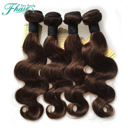 Charming Color #4 Brown Brazilian Hair Body Wave Weave Weaving 4Pcs Lot 400g Brown Brazilian Body Wave 8A Human Hair Extensions