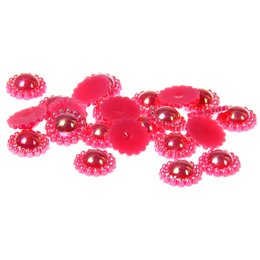 9mm 200pcs Half Round Pearls 8 AB Colors Imitation Glue On Sunflower Resin Beads Appliques For Crafts Fabric Garments DIY Accessories