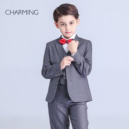 Wholesale Brand New page boys wedding suits Long sleeve style suit High quality fabrics boys piece suit discount promotion From china suppliers
