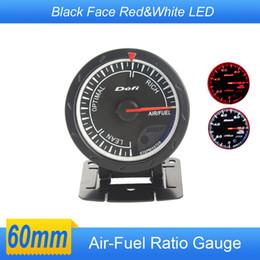 Wholesale Air Fuel Ratio DEF Style Gauge mm Balck Face CR Advance air fuel Auto Gauge Car Meter White Red LED Air Ratio Fuel Gauges