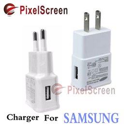 Wholesale Original V A or V A Adaptive Fast Charging US EU Plug Charger For Samsung Galaxy S6 Edge Plus S7 Note5