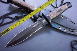 Wholesale New SOG Wood Handle Boot Dagger Survival Fixed Bowie Hunting Knife D25