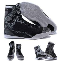 Wholesale With shoes Box New Bryant Kobe IX KB Elite High BHM Black History Month Blackout Men Boots Shoes