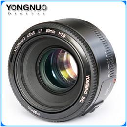 Promotion point de navire YONGNUO YN50mm f1.8 YN EF 50mm f / 1.8 AF Objectif YN50 Ouverture de mise au point automatique pour Canon EOS DSLR Caméras DHL livraison gratuite