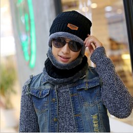 Hat han edition of 2016 knitting wool cap and wool warm turtleneck collar and outdoor man with hat