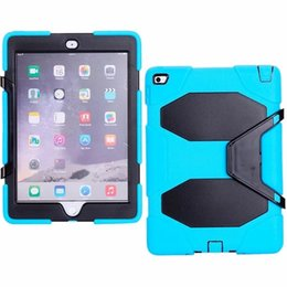 For iPad6 9.7inch Tablet Military Extreme Heavy Duty Shockproof CASE With Screen Protector Kickstand Stand Cover 11 Color DHL Free Shipping