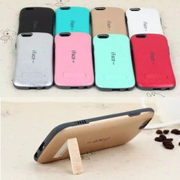 Wholesale Candy Color Shockproof iFace KICKSTAND Case For iphone s SE TPU PC Hybrid Hard Case Silicone Cover for iphone6 s plus