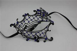 Wholesale Hot Selling Carnival Masks Sexy Fashion Masquerade Masks Pure High grade Imitation Zircon Colour Choose Metal Bachelor Party Masks