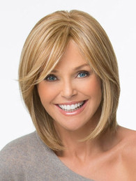 Factory Price!!!!BOB Brown Blonde Short nature Straight Hair Wigs For Amrica and Europe Lady's