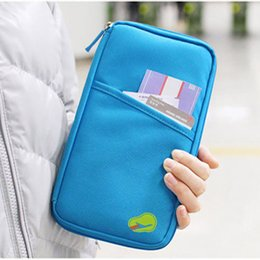 Wholesale Fashion Popular Multifunction Travel Passport Storage packet Holder Credit ID Card Cash Wallet Document gement Bag