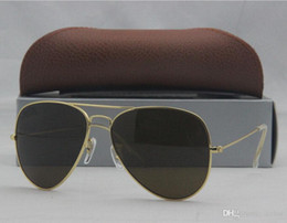 Wholesale Pilot Vintage Shade G15 Lens sun glasses Metal Retro Brand Men s Women Fashion Sunglasses COLORS