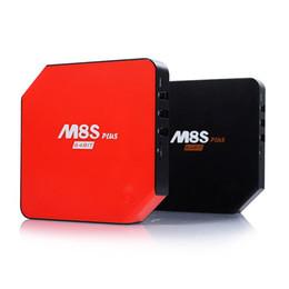Quad lcd en Ligne-La plus récente M8S Plus Android 5.1.1 TV Box Avec LCD Quad Core Amlogic S905 2G / 16G ROM KODI