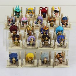 The Saint Seiya Cute doll Q version the Gold Saint Action Figure Cute Toys for kids gift 24pcs set free shipping
