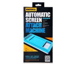 Wholesale REMAX Automatic Screen Attach Machine suit For iPhone For Samsung Universal tools no limited for mobile phone models fast shipping dhl