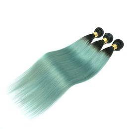 Ombre Hair Bundles Brazilian Human Hair Weaves Two Tone Wefts Peruvian Indian Malaysian Mongolian Cambodian Virgin Hair Extensions Wholesale