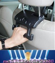 Wholesale New Creative Hook Safety Car Seat Grab Bar Car Headrest Hanger livraison gratuite MYY