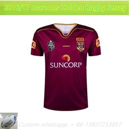 Wholesale NEW Zealand OLD maroons Holden Rugby jersey ORIGIN Holden ALL BLACKS RWC NRL Super RUGBY home and away rugby jerseys Shirts