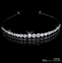 Wholesale Sparkle Hair Accessries Bridal Jewelry Crystal Wedding Crown Cocktail Crown Wedding Party Bridesmaid Headband Cheap