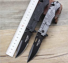 High Quality! Cold Steel Pocket Knife Folding Black Blade Tactical Knives multifunction outdoor survival camping Knives Steel Handle