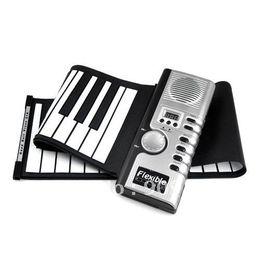 2017 enrollar 61 teclas 61 teclas 61 teclas regalo estupendo Roll-up Digital piano del teclado suave Con órgano electrónico de MIDI para el envío de la gota regalo del cabrito enrollar 61 teclas en oferta