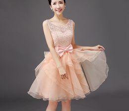 Wholesale Bridesmaids dress annual meeting of new sisters bridesmaid dresses short skirt dress
