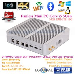 Wholesale 3 Year Warranty Pc Portable Mini Computer Intel Core i5 u G Fanless Mini ITX PC Gaming Desktop Computer GB DDR3L RAM SSD