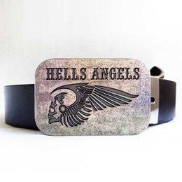 Disom Hells Angels MC Motorcycle Belt Buckle From Games Match With 130CM Black Pu Belts Drop shipping