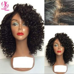 Free shipping Free style heat resistant synthetic lace front wig kinky curly nature black wig glueless curly wig with baby hair for woman