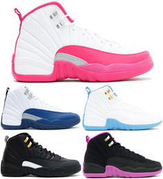 Wholesale 2016 Air Retro GG GS valentine s day French Blue Melo the master Kings Women Cheap Basketball Shoes Retro XII AAA Quality With Box