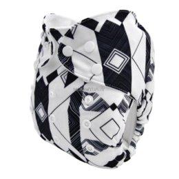 Acheter en ligne Bébé tissu réutilisable couche nappy-LilBit Nouveautés Noël imperméable réutilisable réglable bébé couches couches de tissu avec insert U Pick nappi