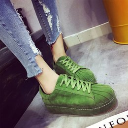 Rihanna Suede Leather Creepers Flat Platform Shoes Woman 2016 Casual Loafers Black Pink Flats Lace-Up Women Shoes
