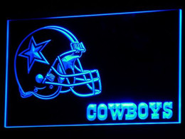 Wholesale b317 Dallas Cowboys LED Neon Sign Bar Beer Decor Dropshipping colors to choose