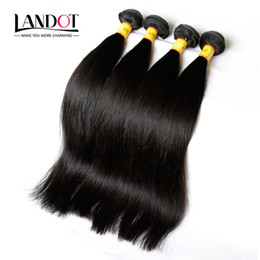 Teñidos haces de pelo de malasia en Línea-Negro Natural de la armadura del pelo malasio recto Grado de cabello humano 8A bruto de Malasia Paquetes de Malasia extensiones de pelo 3 piezas del lote se puede teñir