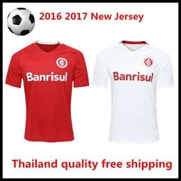 Wholesale 2016 Brazil jersey Porto alegre international club red white shirts Thailand quality welcome your order camisa de futebol