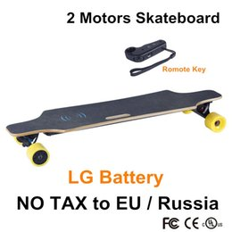 Wholesale 2016 four Wheels electrical scooter New Electric Skateboard LG Ah Dual Driver Motor with remote control hoverboard longboard
