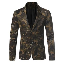 Free Shipping US Size M-3XL High Quality New Winter Camouflage Series of Men's Casual Suit Jacket Slim