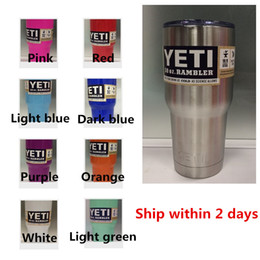 Wholesale 9 Color Yeti Rambler Tumbler oz oz oz oz Bialuer Stainless Steel Insulation Cups Yeti Colster Vacuum Travel Vehicle Beer Mug