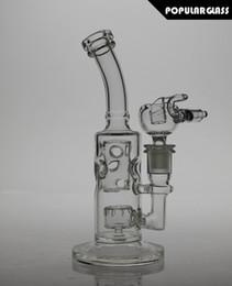 Wholesale 21 cm tall joint size mm FC glass FC bong FC smoking water pipes FC straight fab oil rigs small version FC FAB