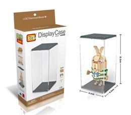 Wholesale LOZ LED Lighting display box for LOZ Diamond blocks Architecture Bricks Showing Case Gift Toy