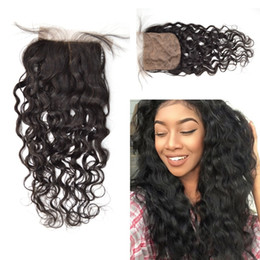 Silk Base Closure Water Wave Mongolian Virgin Human Hair and Top Quality Base Material Hand Tie Natural HairLine LaurieJ Hair