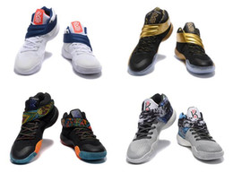 Wholesale High Quality Kyrie Drew League Black Gold Basketball Shoes Women Boys Girls Kyrie Irving Sneakers Kids For Sale Birthday Gift