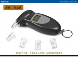 Promotion alcool trousseau Digital Breath Alcohol Tester BAC ivressomètre avec porte-clés et envoyé quatre gaz Mouth Réponse rapide et CV Livraison gratuite Brand New