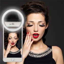 Anillo de luz led de la cámara en venta-20pcs portátil LED Selfie anillo de flash de luz de flash círculo redondo llenar de luz fotografía de la cámara para el iPhone Samsung teléfono móvil