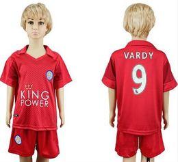Wholesale Leicester City kids Jersey VARDY home blue away black MAHREZ DRINKWATER OKAZAKI KING Leicester City children soccer Jersey shirt