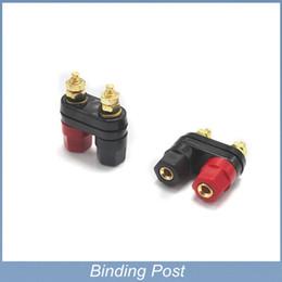 Dual Female Banana Plug Terminal Binding Post for Speaker Amplifier