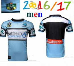 Wholesale new Thai quality Cronulla Sharks rugby jerseys home NRL best Australia rugby league rugby jerseys shirts size S XL