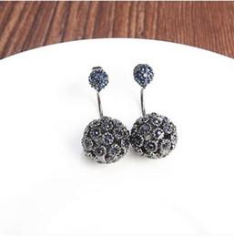 Korean Fashion New Fashion Shining Crystal Diamond Ball Women Earring Sweet Temperament Accessories Jewelry