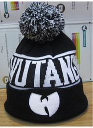 Wholesale Hot Winter Autumn Wu Tang Clan Embroidery Hip Hop Beanie Pompon Knitted Caps Men Women Sport Cotton Four Leaf Clover Hats Hight Quality