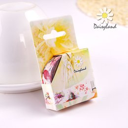 Wholesale daisyland and Jing fan decoration material antique paper tape diary hand account album paper hand