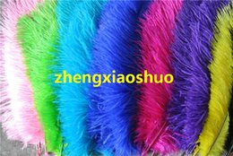 100 pcs 12-14inch white black red orange yellow royal blue purple turquoise hot pink green ivory ostrich feather plume